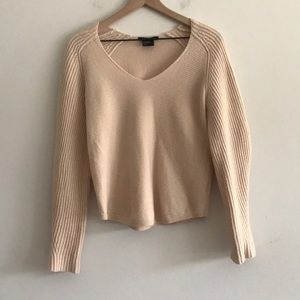 Armani Exchange V- Neck Sweater Cream Size M